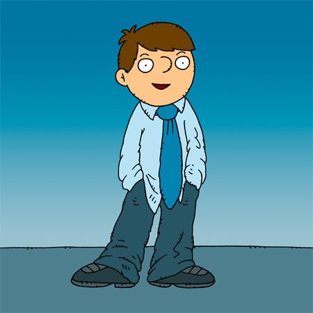 Kluk oblečený jako dospělý # A boy dressed like an adult