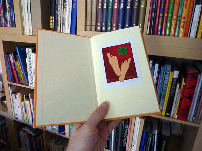 Fotografie ex libris v knize