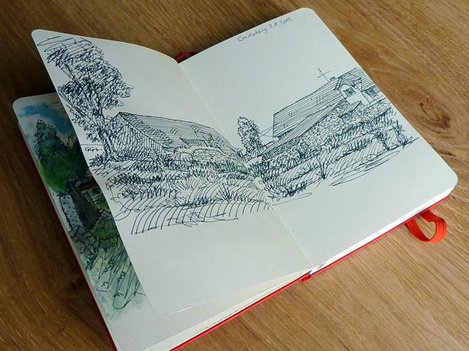 Moleskine urban sketching