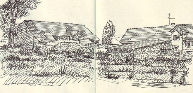 kresba - zápisník Moleskine