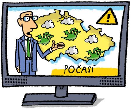 Pohádková předpověď počasí v televizi