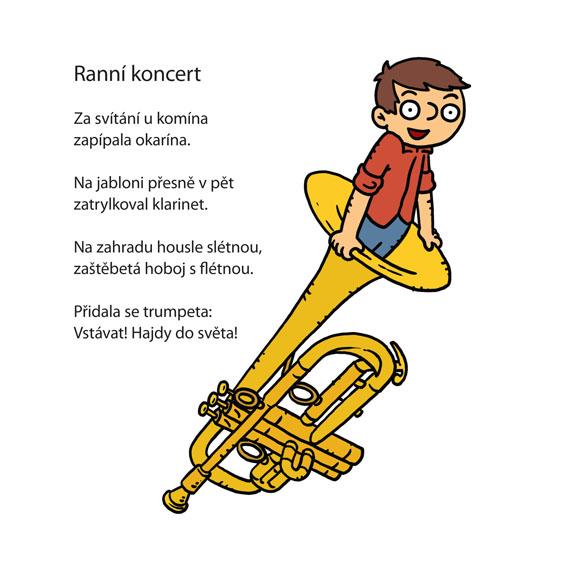 Básnička Jiřího Žáčka s ilustrací