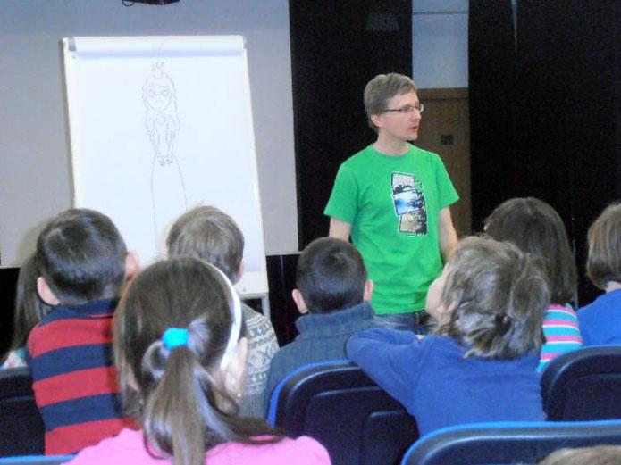 beseda s ilustrátorem a spisovatelem