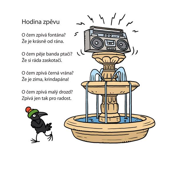 básnička Jiřího Žáčka s obrázkem od Vhrstiho