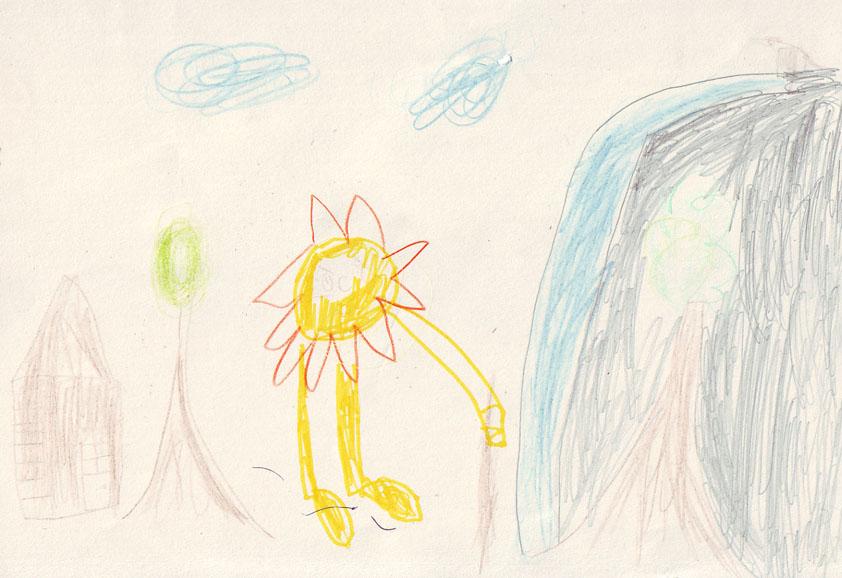 obrázek od dětí k básničce Jiřího Žáčka