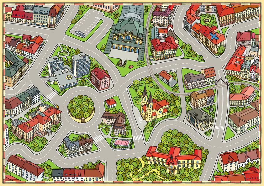ilustrace město