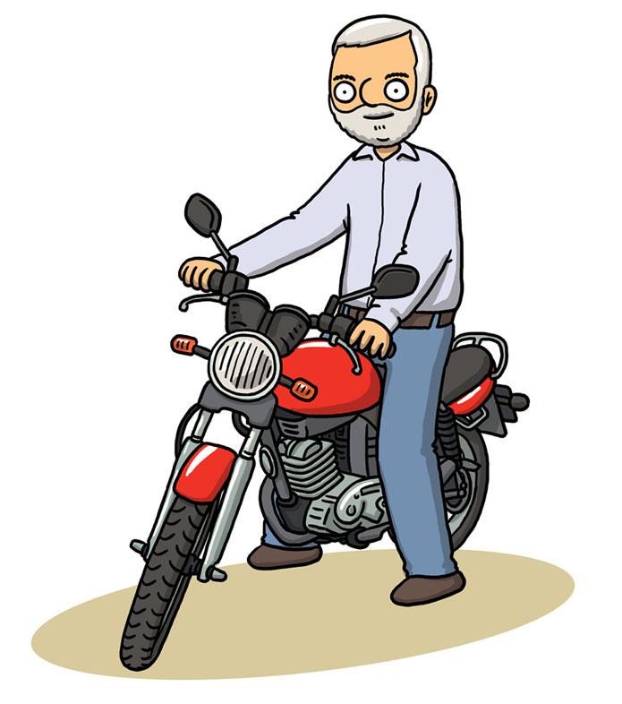 Muz_na_motorce